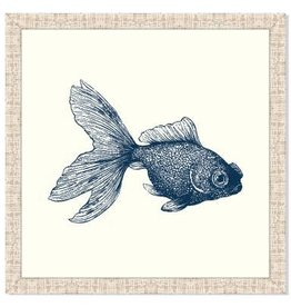 Goldfish in Blue