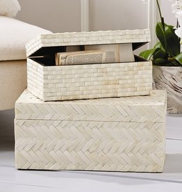 Basketweave Bone Box (Large)