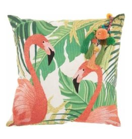 Green Royal Palm Pillow