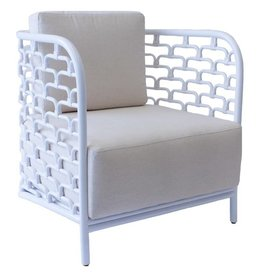 Sydney Mod Steps Barrel Chair - Winter White