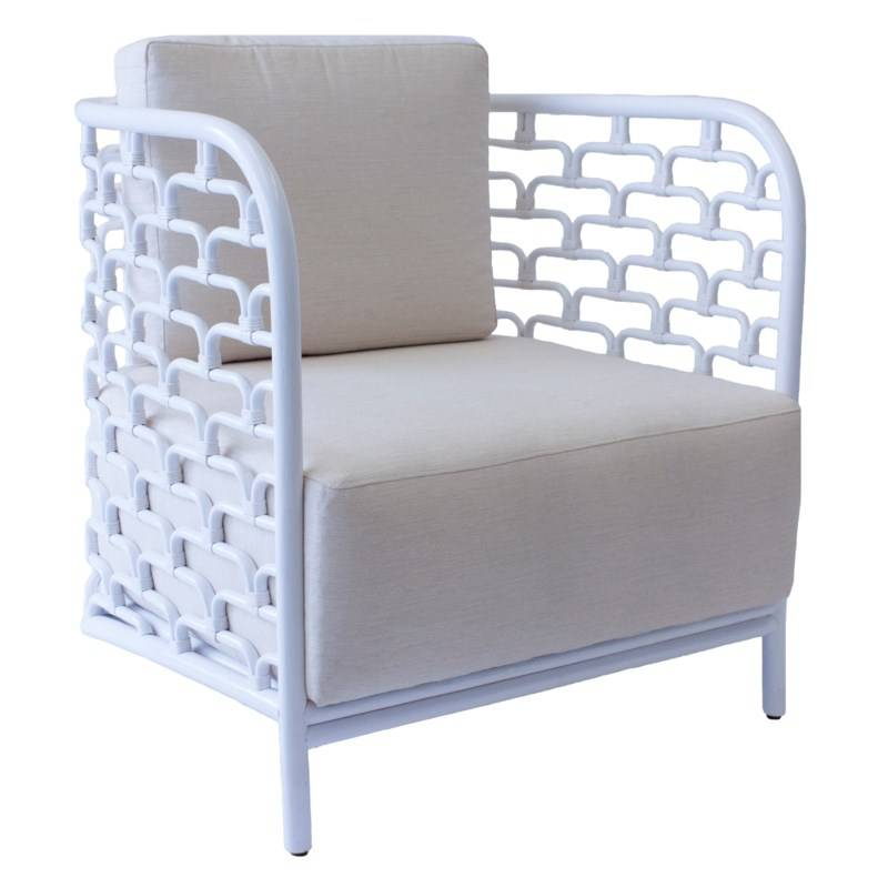 Attrayant Sydney Mod Steps Barrel Chair   Winter White