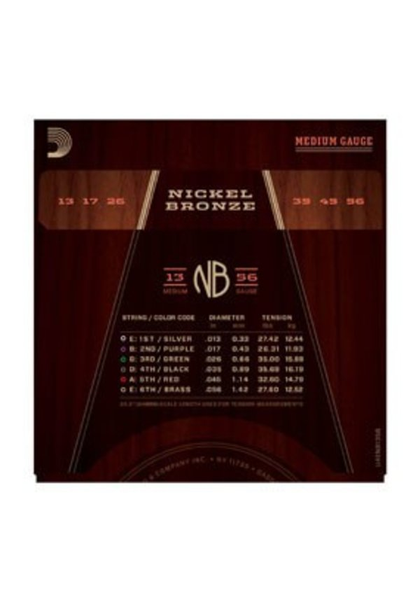 D'Addario Medium NB1356