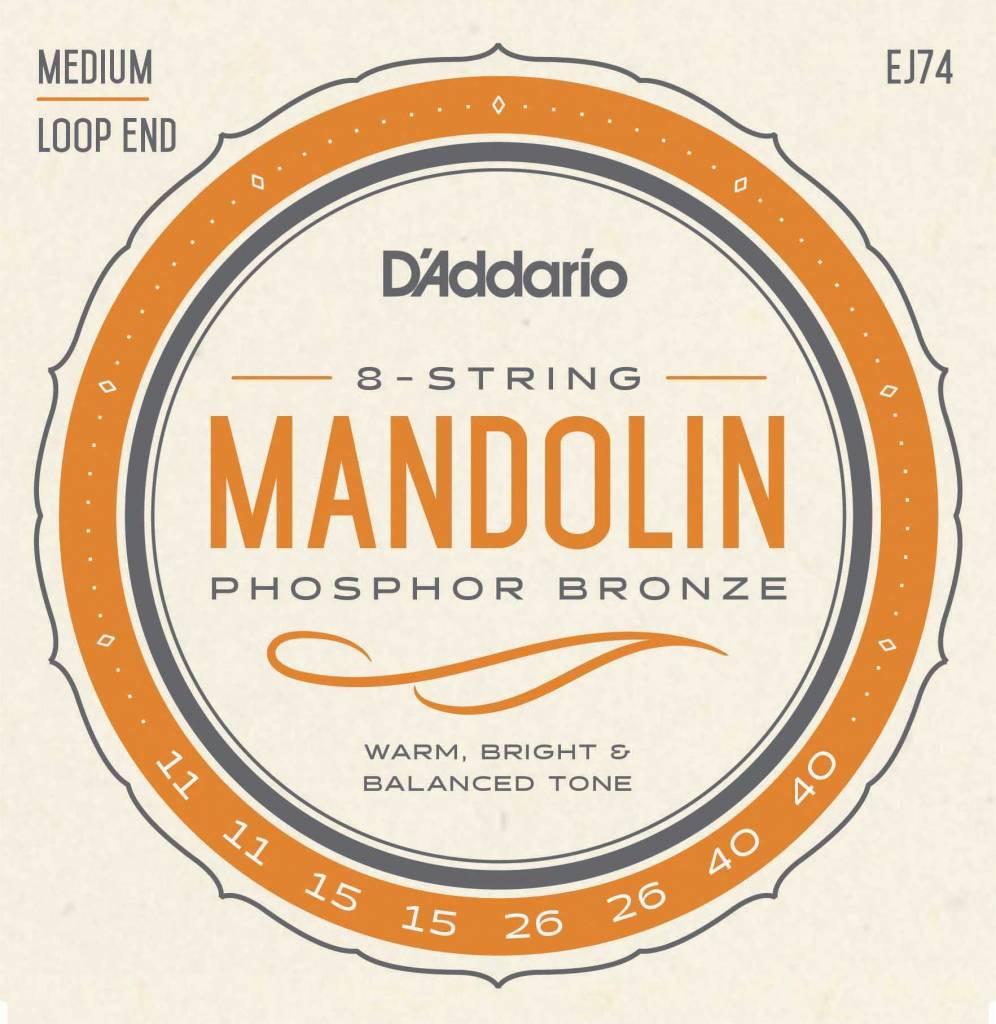 DAddario Fretted D'Addario EJ74 SET MANDOLIN PHOS BRZ MED