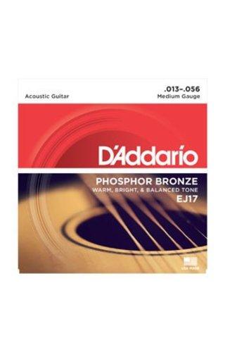 DAddario Fretted D'Addario EJ17 Medium Phosphor Bronze
