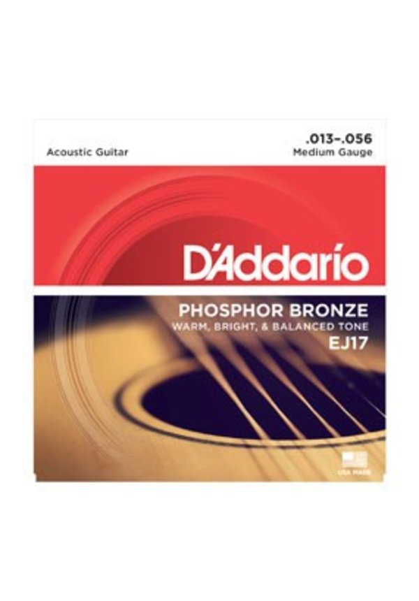 D'Addario EJ17 Medium Phosphor Bronze