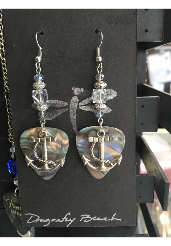 Guitar Pick Earrings by Kris