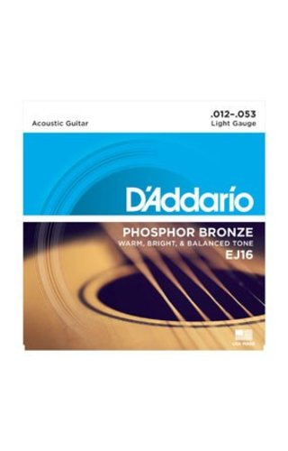 DAddario Fretted D'Addario EJ16 Light Phosphor Bronze