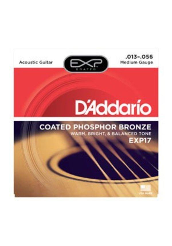 D'Addario EXP17 Medium Coated Phospher Bronze