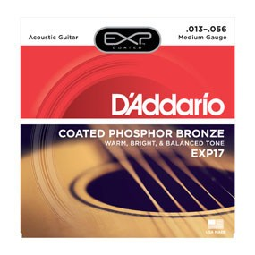 DAddario Fretted D'Addario EXP17 Medium Coated Phospher Bronze