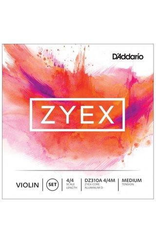 DAddario Orchestral ZYEX VIOLIN SET ALUM D 4/4 MED
