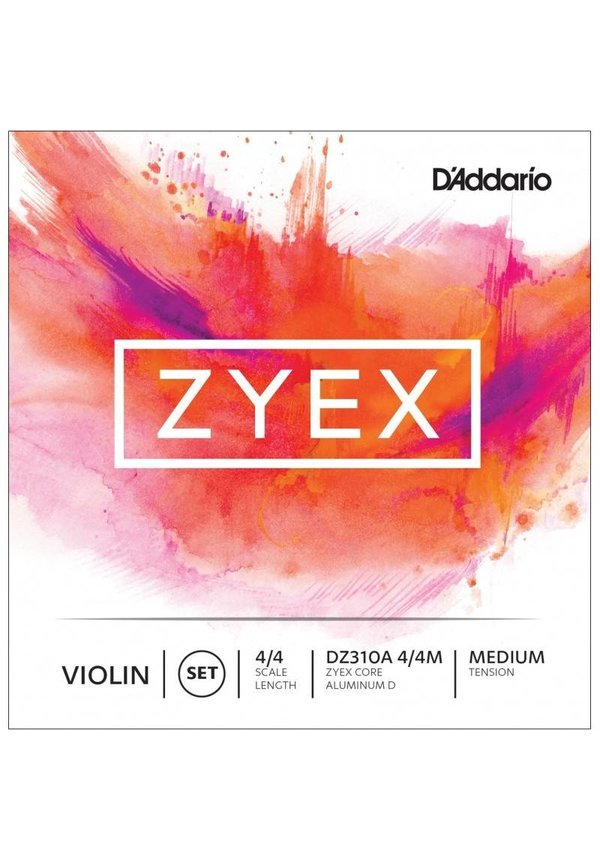 ZYEX VIOLIN SET ALUM D 4/4 MED