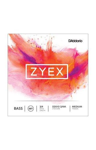 DAddario Orchestral D'ADDARIO ZYEX BASS SET 3/4 MED