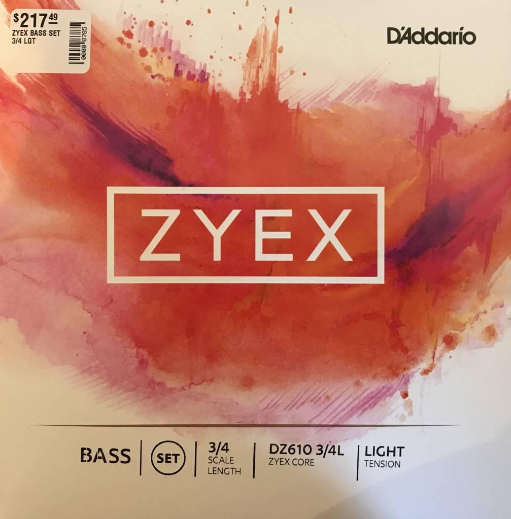 DAddario Orchestral D'ADDARIO ZYEX BASS SET 3/4 LGT