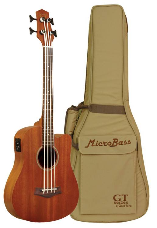 Gold Tone M-Bass 23-Inch Scale Acoustic-Electric MicroBass with Gig Bag
