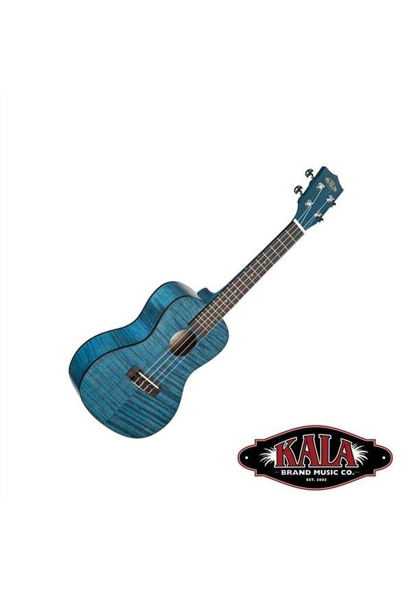 Kala Soprano Exotic Mahogany Blue Stain W/Black Binding