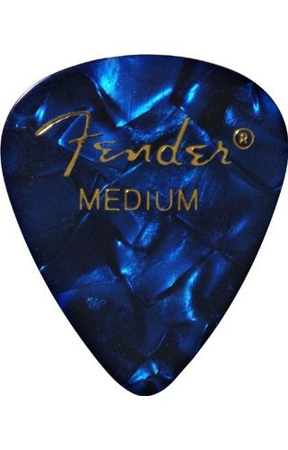 Fender Fender 351 Shape Premium Picks, Medium, Blue Moto