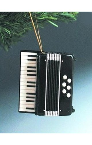 Ornament - Black Accordian
