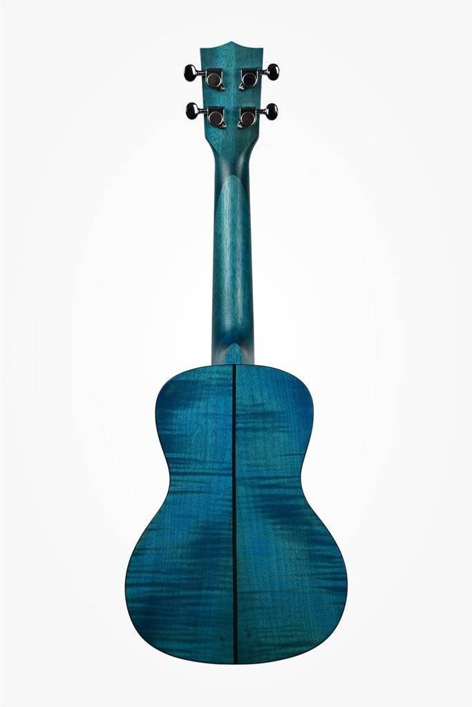 Kala Kala Blue Translucent Satin Exotic Mahogany Concert