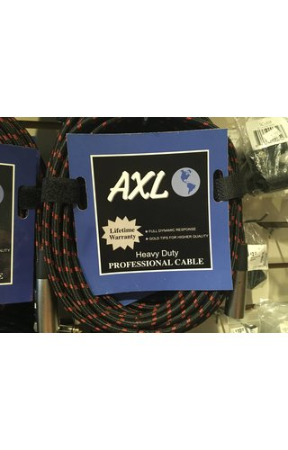 AXL Lo-Z MICROPHONE CABLE BLACK/RED TWEED 20'