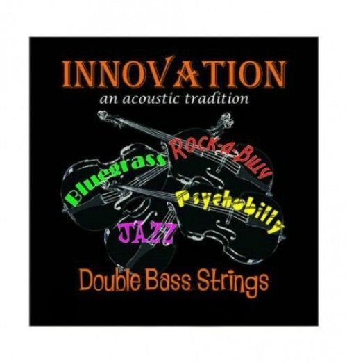 Innovation Rock-A-Billy Black Upright Bass String Set