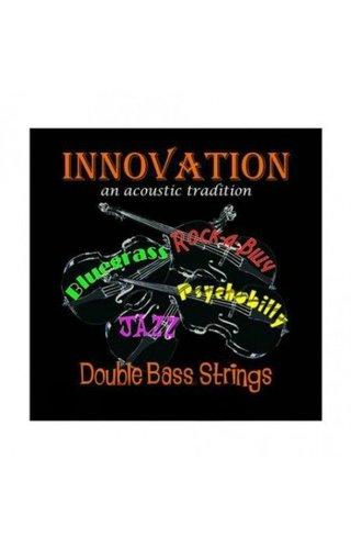 Innovation Rock-A-Billy Red Upright Bass String Set