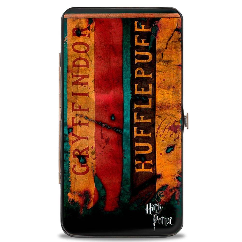 Hinged Wallet - Harry Potter Hogwarts House Banners