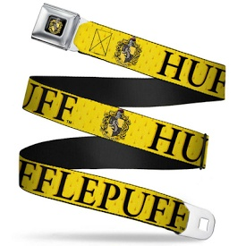 Harry Potter Black Chrome 1.25 Buckle - Hufflepuff Crest