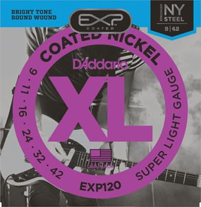 DAddario Fretted D'Addario EXP120 Super Light Coated Nickle