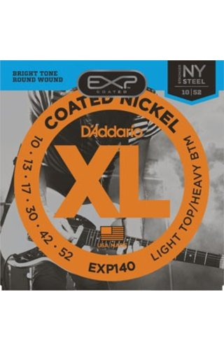 DAddario Fretted D'Addario EXP140 Light Top/Heavy Bottom Coated Nickle