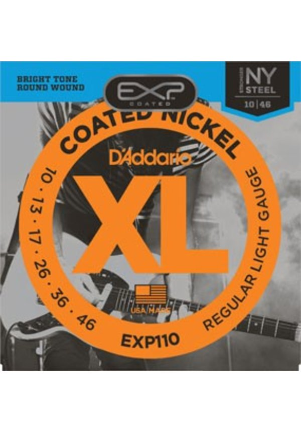 D'Addario EXP110 Regular Light Coated Nickle