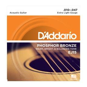 DAddario Fretted D'Addario EJ15 Extra Light Phosphor Bronze