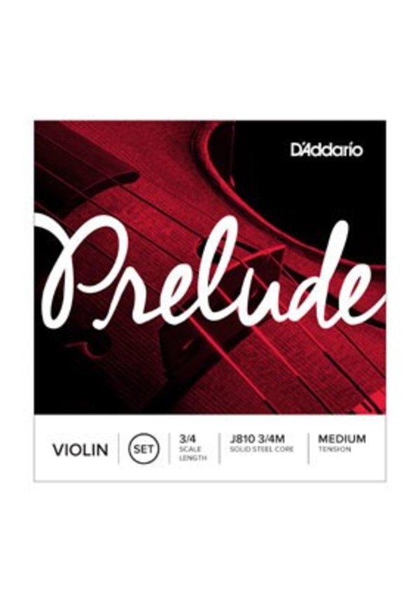 D'Addario PRELUDE VIOLIN SET 3/4 MED