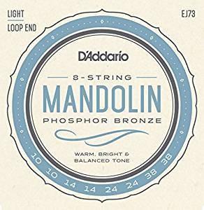 DAddario Fretted D'ADDARIO MANDOLIN PHOS BRZ LIGHT EJ73