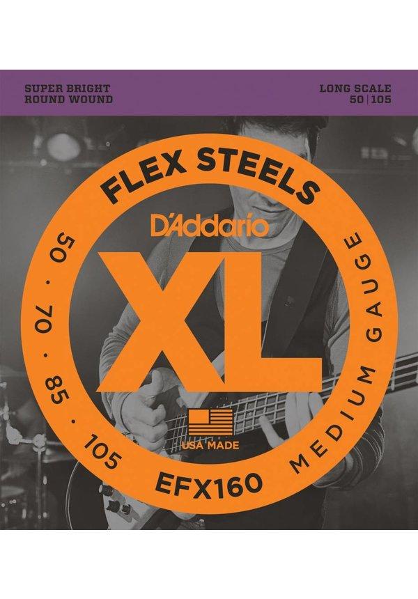 D'ADDARIO EF160 Flex Steels SET BASS FLEXST 50-105 LONG