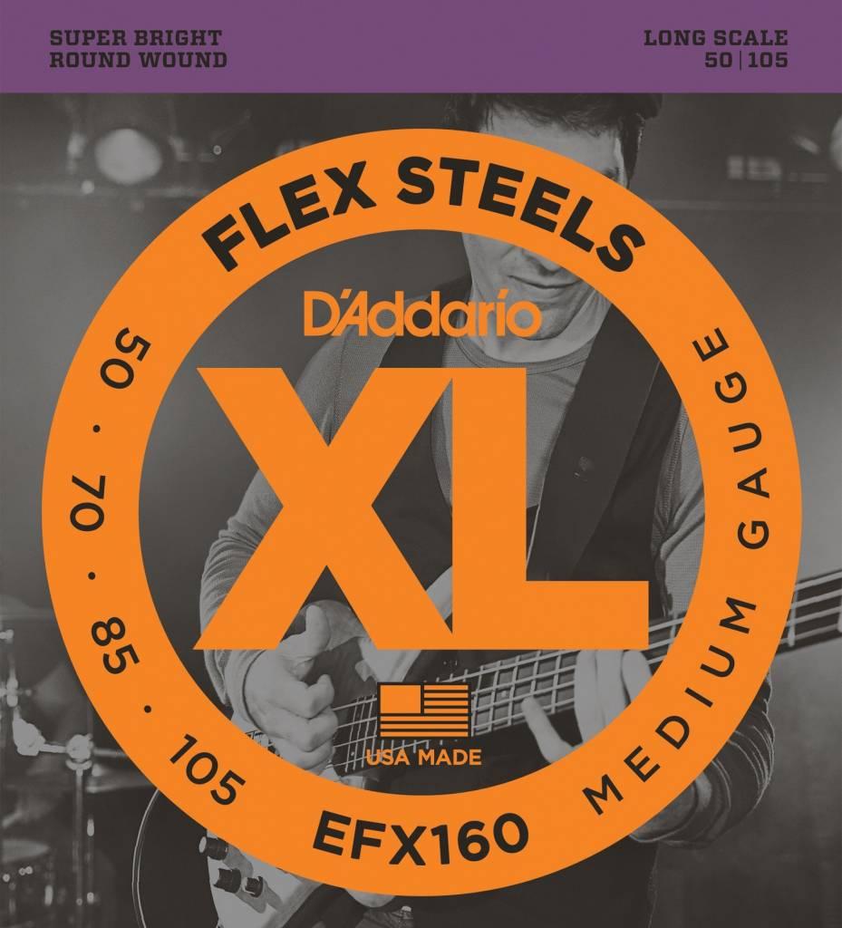 D'Addario D'ADDARIO EF160 Flex Steels SET BASS FLEXST 50-105 LONG