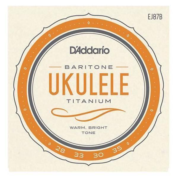 DAddario Fretted D'ADDARIO BARITONE TITANIUM UKULELE EJ87B