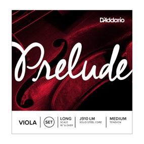 DAddario Orchestral D'Addario PRELUDE VLA SET LONG MED J910