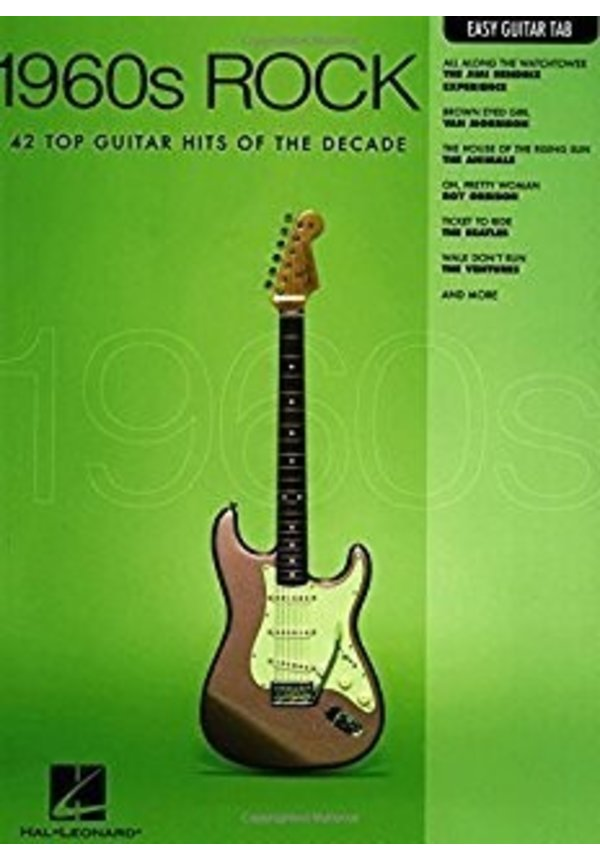 1960s Rock Easy Guitar with Notes & Tab Easy Guitar
