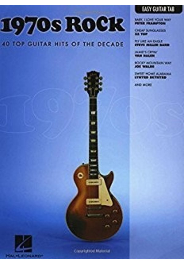 1970s Rock Easy Guitar with Notes & Tab Easy Guitar