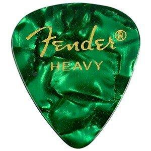 Fender FENDER 351 Shape Premium Picks, Heavy, Green Moto