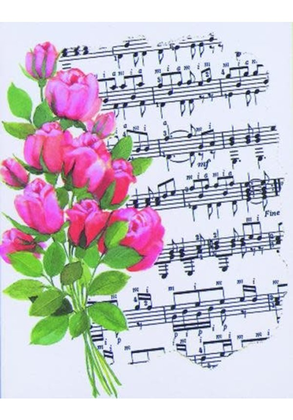 Card -  Roses & Music Score