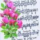 Card -  Roses & Music Score