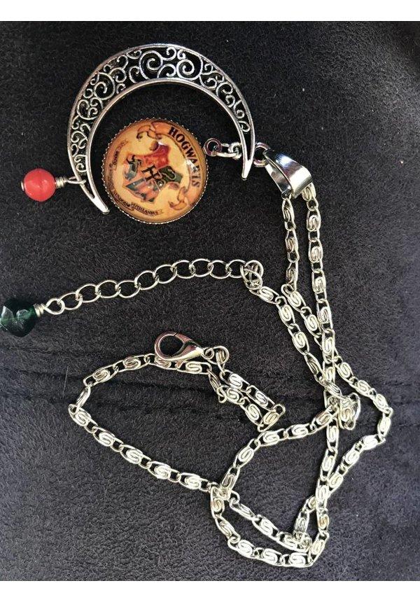 """""""Mischeif & Magic"""" Retro Crest Sweater Chain Necklace"""