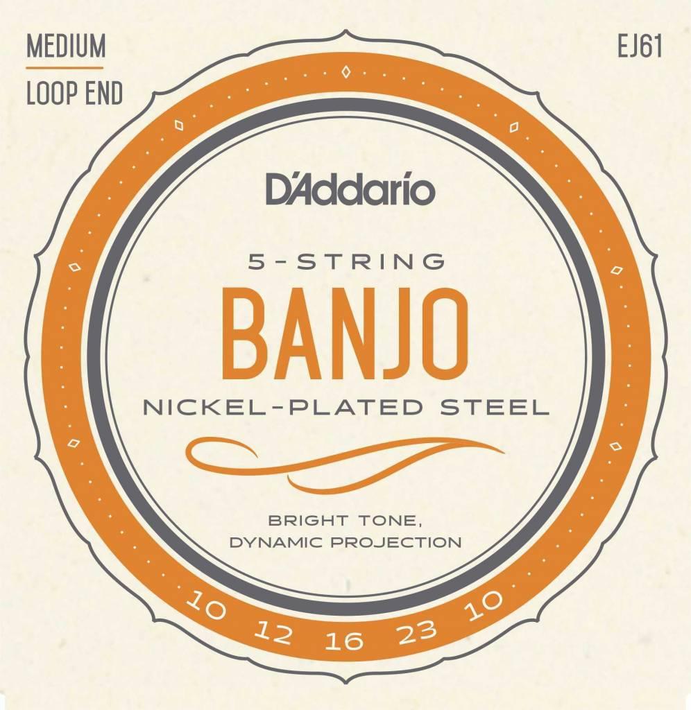 D'Addario D'Addario J61 5-String Banjo Strings, Nickel, Light, 10-23