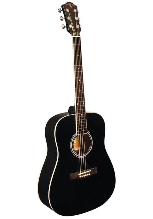 INDIANA DREADNOUGHT SPRUCE TOP BLACK