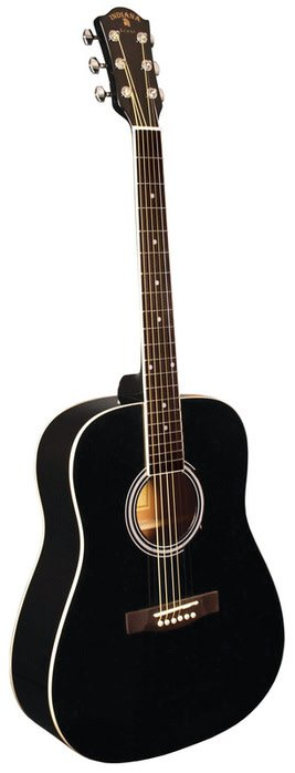 Indiana Scout Guitars INDIANA DREADNOUGHT SPRUCE TOP BLACK