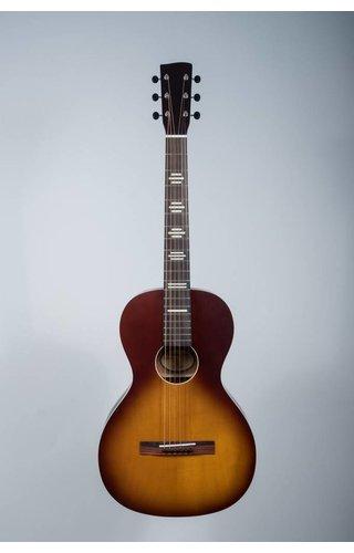 Recording King Solid Top Parlor Guitar, Tobacco Sunburst