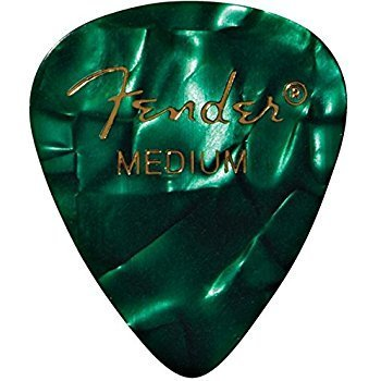 Fender Fender Green moto 351 Shape Pick Medium