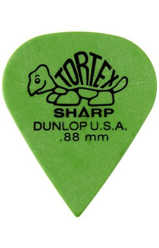 Jim Dunlop DUN TORT  Green Sharp PLYRS PK .88  12/PK