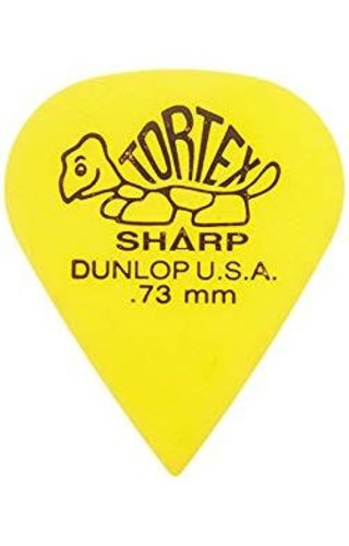 Jim Dunlop DUN TORT Yellow Sharp  PLYRS PK .73 12/PK